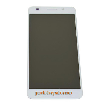 Complete Screen Assembly for Huawei Honor 6 -White from www.parts4repair.com
