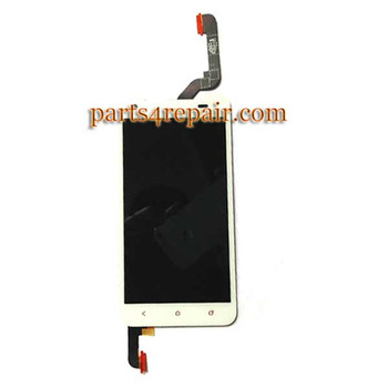 Complete Screen Assembly with LGP for HTC Butterfly S -White