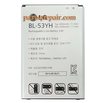 We can offer BL-53YH 3000mAh Battery for LG G3
