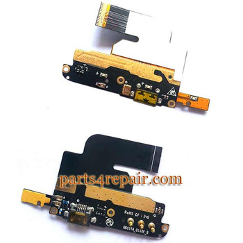 Dock Charging Flex Cable for ZTE Nubia Z5S NX503A from www.parts4repair.com