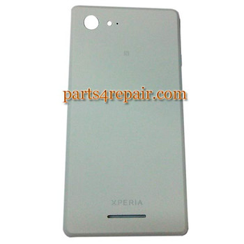 Back Cover for Sony Xperia E3 -White from www.parts4repair.com