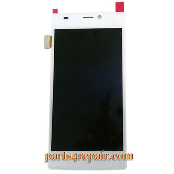 Complete Screen Assembly with Bezel for Gionee Elife S5.5 -White from www.parts4repair.com