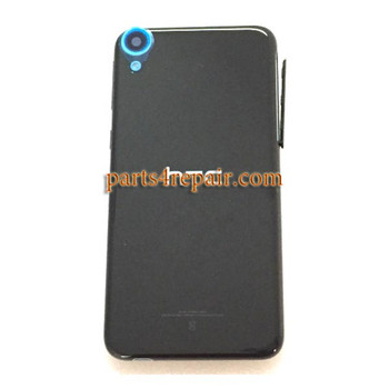 Back Cover with Side Keys for HTC Desire 820 -Black