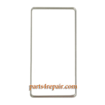 Front Bezel with Adhesive for HTC Desire 600 -White