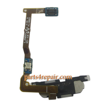 Fingerprint Sensor Flex Cable for Samsung Galaxy Alpha (S801) G850 -White