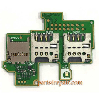 SIM Contact Board for Sony Xperia M C1905 from www.parts4repair.com