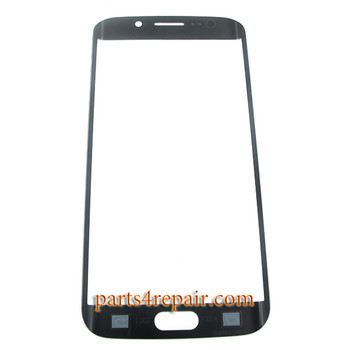 Front Glass for Samsung Galaxy S6 Edge G925 All Versions -Black Sapphire