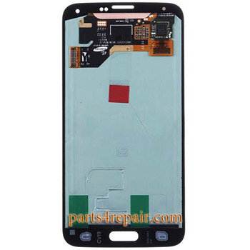 Complete Screen Assembly for Samsung Galaxy S5 -Gold