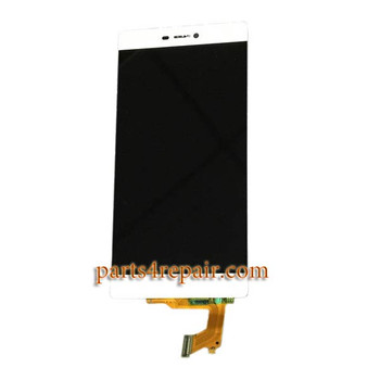 Complete Screen Assembly for Huawei P8 -White