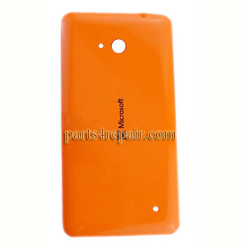 Back Cover with Side Keys for Microsoft Lumia 640 (Glossy Surface) -Orange
