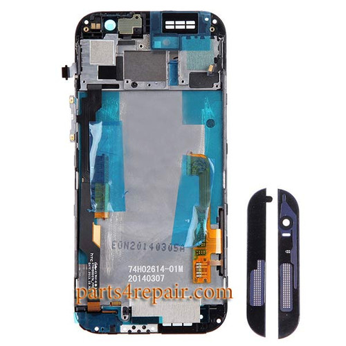 Complete Screen Assembly with Front Housing for HTC One M8 Dual SIM -Gray