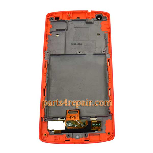 Complete Screen Assembly with Bezel for LG Nexus 5 D820 -Red