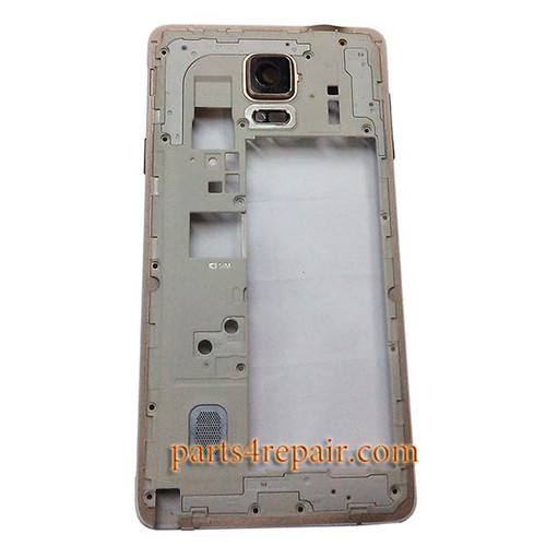 Middle Housing Cover with Side Keys for Samsung Galaxy Note 4 N910G from www.parts4repair.com
