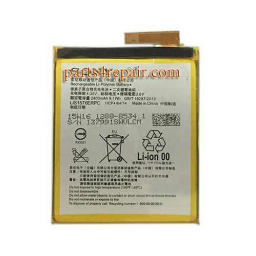 Built-in Battery 2400mAh for Sony Xperia M4 Aqua from www.parts4repair.com