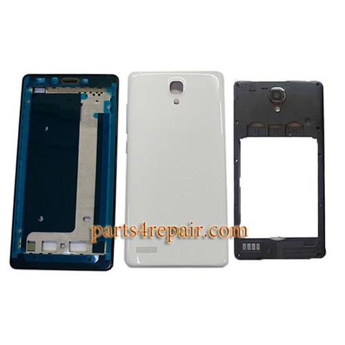 Full Housing Cover for Xiaomi Redmi Note 3G Dual SIM -White