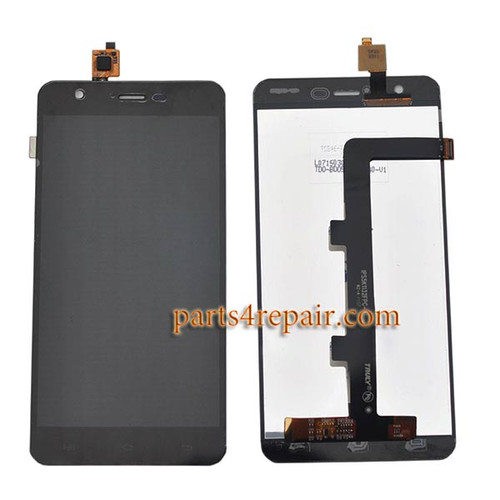Complete Screen Assembly for JiaYu S3 -Black
