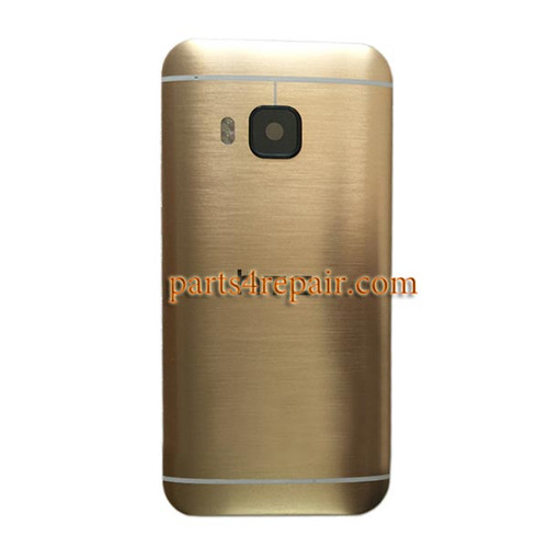 Back Cover with Side Keys for HTC One M9 -Gold