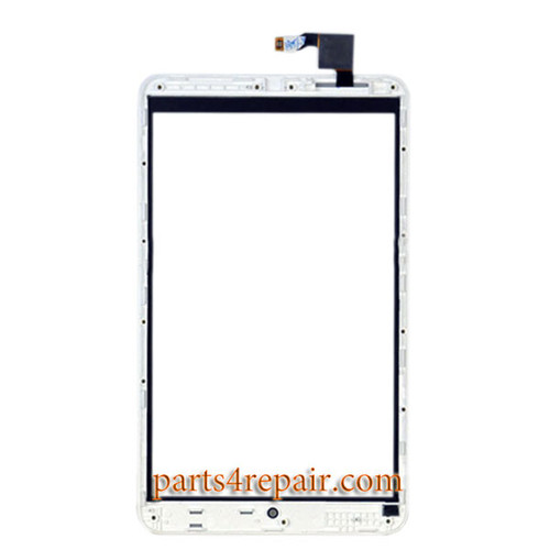 Touch Screen Digitizer with Bezel for Alcatel POP 8 P320X -White