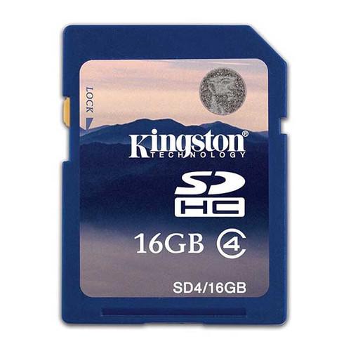 Kingston SD4/16GB 16GB SDHC Class 4 Memory Card