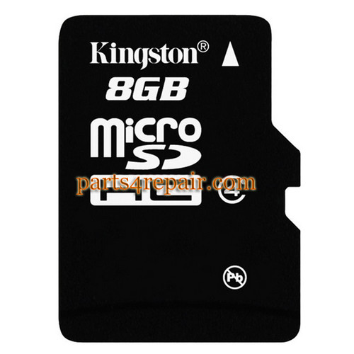 Kingston 8GB Micro SD Class 4 Memory Card from www.parts4repair.com