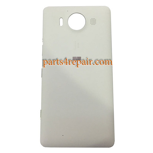 Back Housing Cover with Side Keys OEM for Microsoft Lumia 950 -White