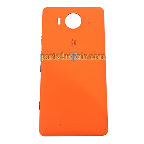 Back Housing Cover with Side Keys OEM for Microsoft Lumia 950 -Orange