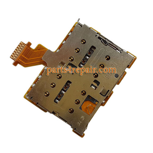 Dual SIM Connector Flex Cable for HTC One M8 from www.parts4repair.com