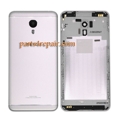 Back Housing with Side Keys for Meizu M3 Note (Meizu Blue Charm Note3) -Silver