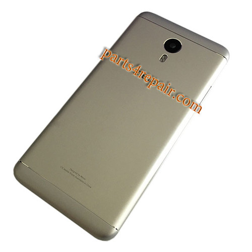 Back Housing with Side Keys for Meizu M3 Note (Meizu Blue Charm Note3) -Gold
