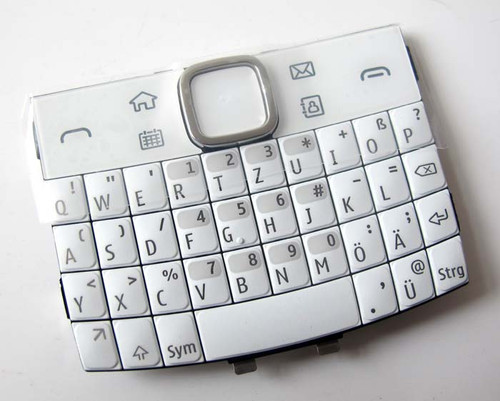 Nokia E6 Keypad White from www.parts4repair.com