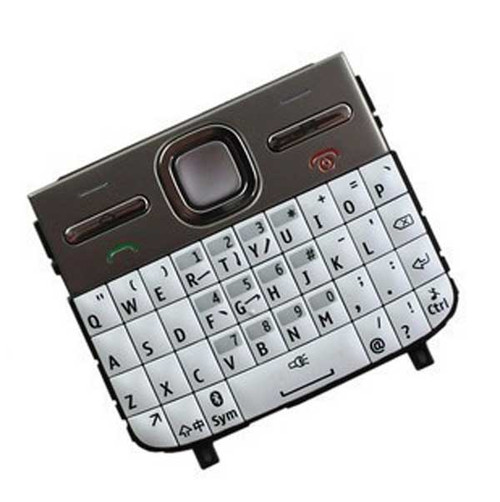 Nokia E5 Keypad White from www.parts4repair.com