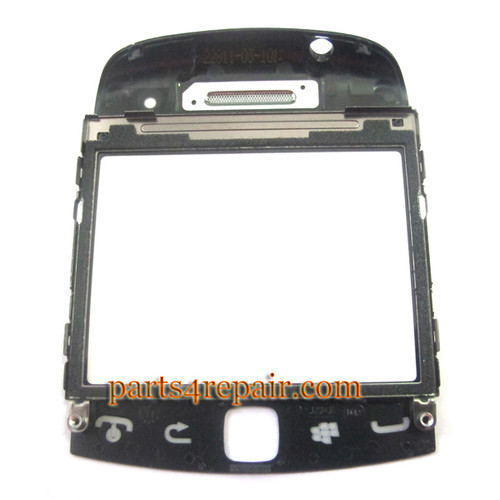 BlackBerry Curve 9360 Front Cover with Touch Lens -Black