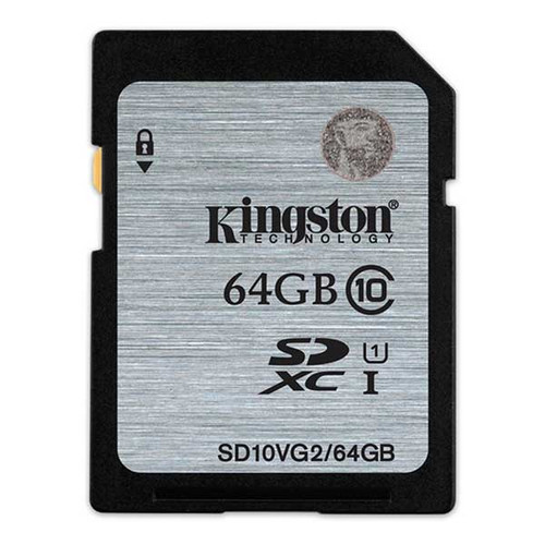 Kingston 64GB SDXC Class 10 Memory Card 80MB/S