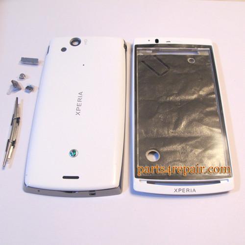 Full Housing cover for Sony Ericsson Xperia Arc S LT18I / LT15I  - White