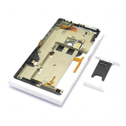 Nokia N9 Full Housing Cover Case -White from www.parts4repair.com