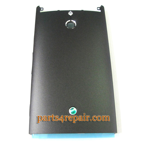 Back Cover for Sony Xperia P -Black