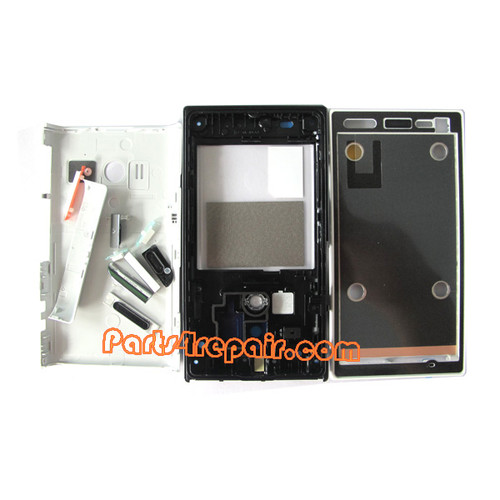 Sony Xperia acro S LT26W Full Body Housing Cover -White