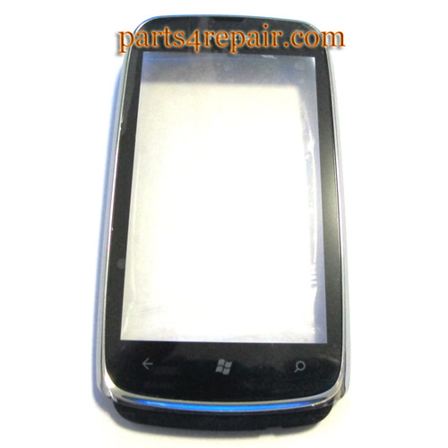 Nokia Lumia 610 Touch Screen with Front Bezel -White from www.parts4repair.com