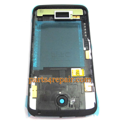 Back Housing Cover with Side Keys for HTC One X +  -Black (HTC Version)
