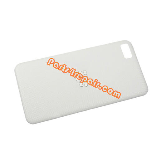 Back Cover for BlackBerry Z10 -White from www.parts4repair.com