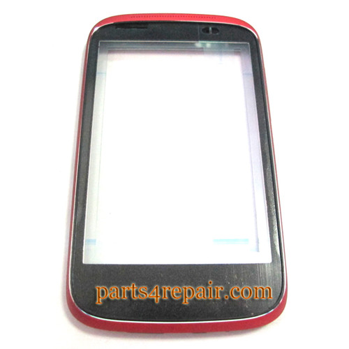 Front Housing Cover for HTC Desire C -Red