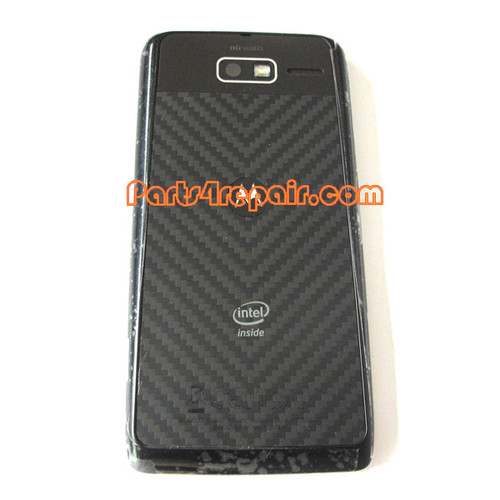 Back Housing Assembly Cover for Motorola RAZR I XT890 -Black from www.parts4repair.com