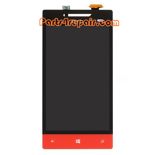 Complete Screen Assembly for HTC Windows Phone 8S -Red