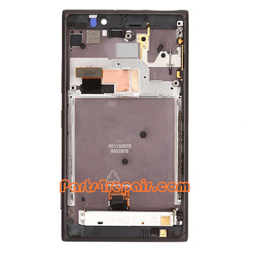 Complete Screen Assembly with Bezel for Nokia Lumia 925 -Black