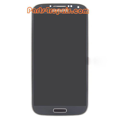 Complete Screen Assembly with Bezel for Samsung I9505 Galaxy S4 -Blue