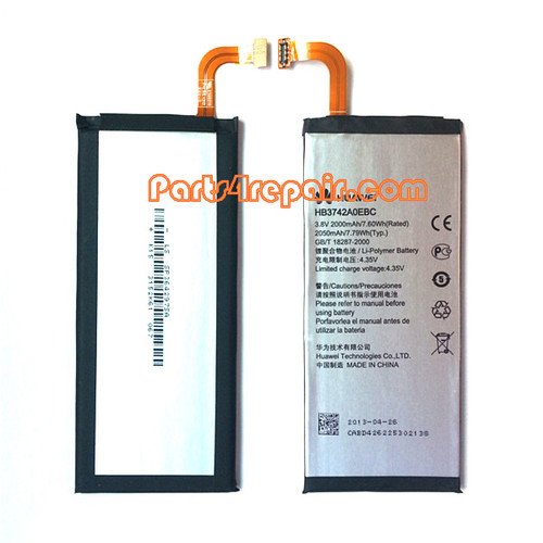2000mAh Battery for Huawei Ascend P6 from www.parts4repair.com