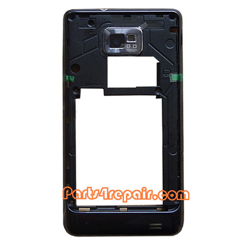 Middle Cover for Samsung I9105 Galaxy S II Plus -Black from www.parts4repair.com