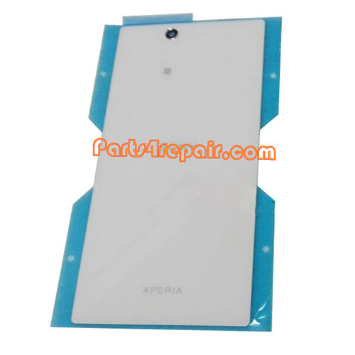 Back Cover for Sony Xperia Z Ultra XL39H -White from www.parts4repair.com