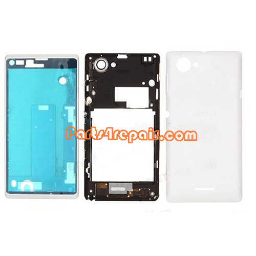 Full Housing Cover for Sony Xperia L S36H -White