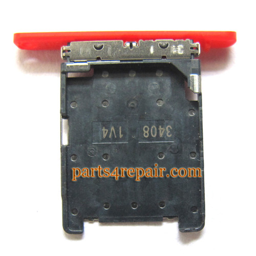 SIM Tray Holder for Nokia Lumia 720 -Red from www.parts4repair.com